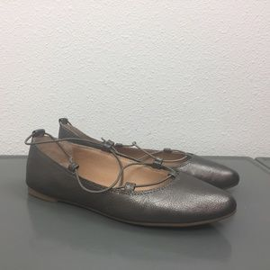 Lucky Brand Pewter Gray Ballet Flats Shoes Sz 6.5M